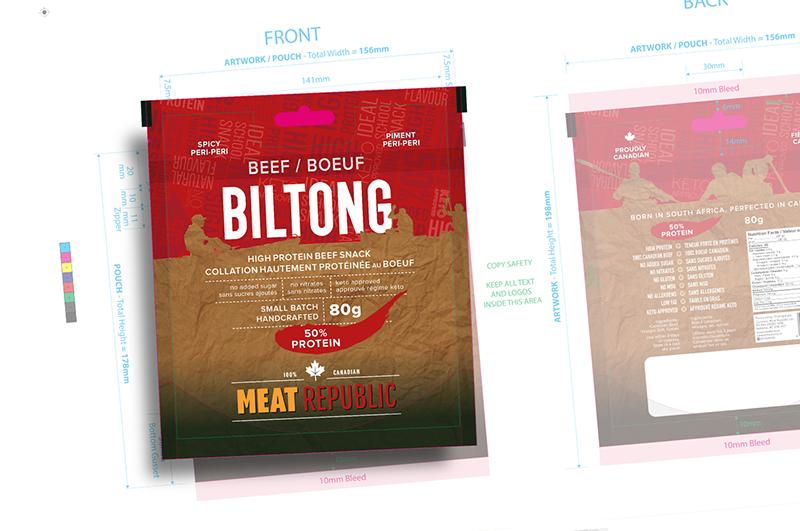 biltong packaging - peri-peri flavour