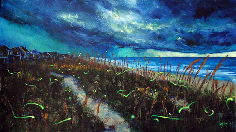 Seascape painting - magic out there - storm