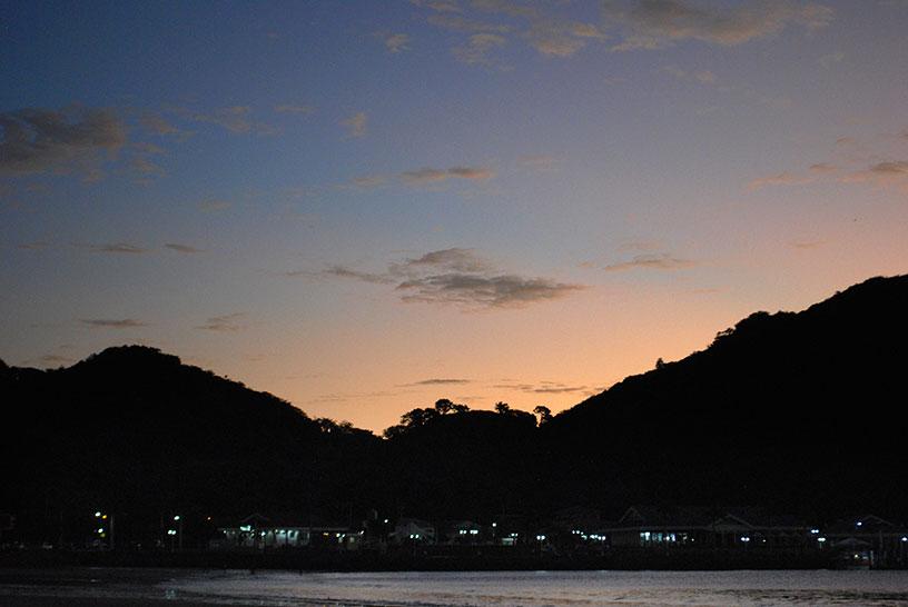 The hills of San Juan del Sur