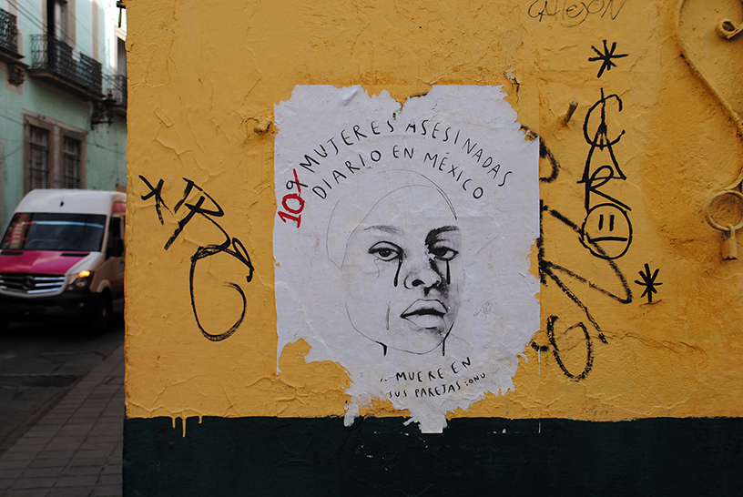 Poster in The city of Guanajuato