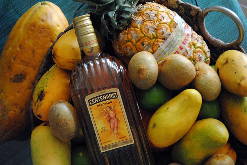 Tequila and fruit, Mexico Querétaro