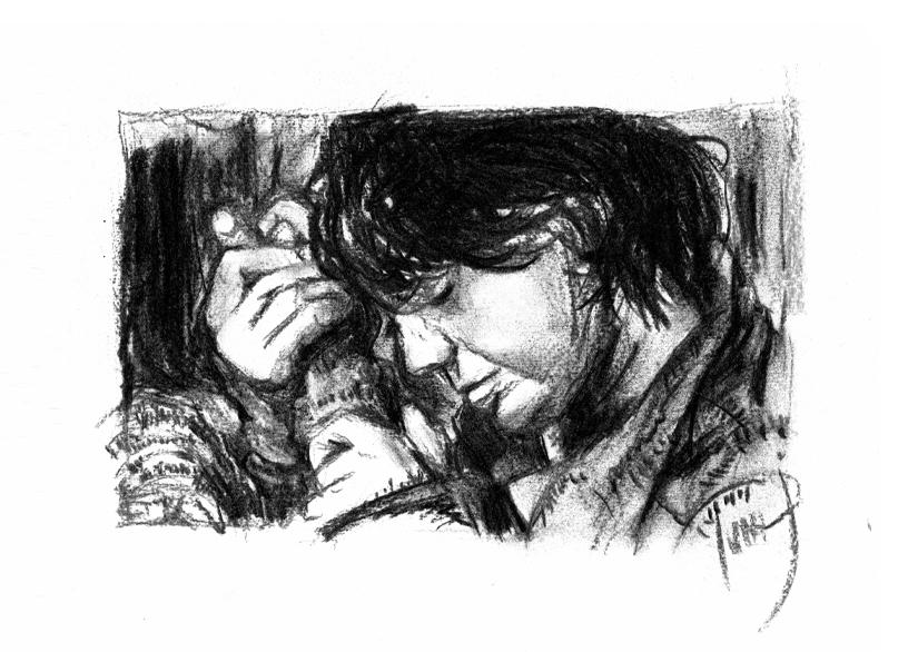 goodbye charcoal sketch