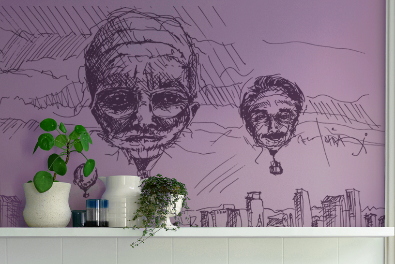 Mural decal from illustration